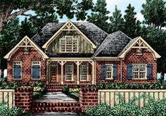 Exterior rendering of Home Plan by Frank Betz Associates