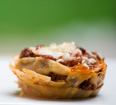 lasagna cupcakes! this would make for great party food