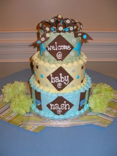 Cute cake!!!  Elephant baby shower  Change colors