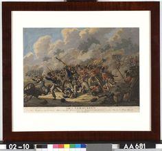 Het veroveren van de Franse Adelaar door de Bergschotten - J.A. Langendijk, J.M. van Os & Co. - 1815  Maat: 37cm x 50cm  Materiaal: drukinkt op papier  Inventarisnummer: AA681