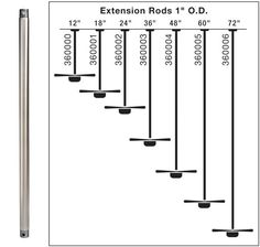 "Kichler 360006 72"" Down Rod with 1"" Diameter"