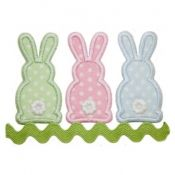 Three Bunnies Applique