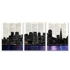 San Francisco Skyline 3 Pack, $17, now featured on Fab mby CollageOrama !!