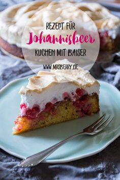 Rezept für Johannisbeerkuchen mit Baiser The recipe for the currant cake with meringue is quite simple and also prepared quickly, so perfect for a spontaneous baking action on the weekend. Easy Vanilla Cake Recipe, Easy Cake Recipes, Healthy Dessert Recipes, Sweet Recipes, Baking Recipes, Cookie Recipes, Food Cakes, Healthy Cookies, Sweet Cakes