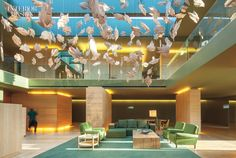 For the lobby of the Monverde Wine Experience Hotel in Amarante, Portugal, FCC Architecture and Paulo Lobo Interior Design commissioned sculptor Paulo Neves for an installa...