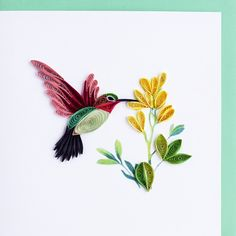 "Zoom in and look closely! Awesome! Fine quilling of vibrant colors. This is our most popular card. These cards are so impressive and have such a ""wow"" factor that they will become a treasured keepsake"