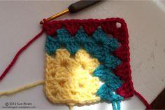 Mitered Granny Square « crochet again