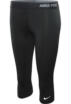 I love these! I use them to workout and once they're too used up, they're amazing to sleep in. NIKE Women's Pro II Capri Tights