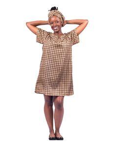 Afroccentrique IHhiya Off The Shoulder Shweshwe Dress