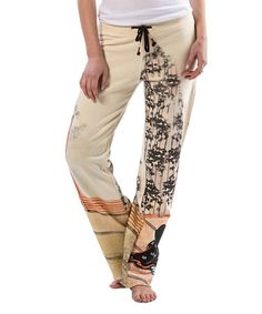 Another great find on #zulily! White Japanese Painting Sweatpants #zulilyfinds