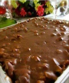 Ingredients:  -FOR THE CAKE:  2 cups Flour  2 cups Sugar  1/4 teaspoon Salt  4 Tablespoons (heaping) Cocoa  2 sticks Butter  1 cup Boi...