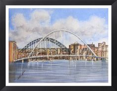 "Tyne Bridges 16x20"" Watercolours.  Painted by Sharon Douglas"