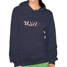 Rock your nation hoodie - Usa! - Blue American Apparel sweatshirt. Be proud to express love for your country. Every moment is the right one to wear US colors. Minimal but stylish effect thanks to the simple, informal, intriguing fonts. Choose your favorite shirt style/color from my store.