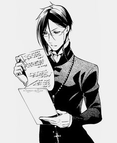 Image discovered by Black Butler. Find images and videos about black and white, anime and manga on We Heart It - the app to get lost in what you love. Black Butler Sebastian, Black Butler 3, Black Butler Anime, Haikyuu, Black Butler Characters, Sebaciel, Ciel Phantomhive, Black Butler Kuroshitsuji, Another Anime