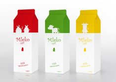 Milk packaging by Jacek Spyrczyński (from Myways ) for LemonBlue. It's just a design concept, as the idea was rejected by the client beaca. Dairy Packaging, Kids Packaging, Innovative Packaging, Cake Packaging, Beverage Packaging, Brand Packaging, Design Packaging, Carton Design, Tetra Pak