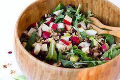 Holiday Salad with Cranberry Apple Orange Vinaigrette