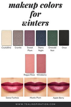 In my opinion, wearing makeup shades that make the most of your natural coloring. - In my opinion, wearing makeup shades that make the most of your natural coloring is the most import - Paleta Deep Winter, Deep Winter Palette, Cool Winter Color Palette, Deep Winter Colors, Winter Typ, Clear Winter, Dark Winter, Seasonal Color Analysis, Color Me Beautiful