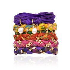Bracelet Stack Of 6 Brazilian, $45, now featured on Fab. By greensewn