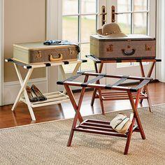 DIY leather luggage rack | Pinterest | Luggage rack, Leather luggage ...