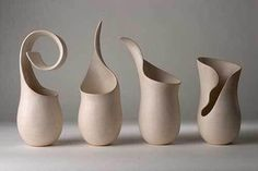 Sculptural Vases Tina Vlassopulos is a studio potter based in London producing one off hand built ceramics.Tina Vlassopulos is a studio potter based in London producing one off hand built ceramics. Hand Built Pottery, Slab Pottery, Pottery Wheel, Pottery Vase, Ceramic Pottery, Thrown Pottery, Ceramic Clay, Ceramic Vase, Clay Vase