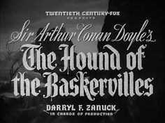 The Hound of the Baskervilles - the original with Basil Rathbone