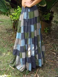Soft and Floaty Boho Skirt  Patch Work Skirt   Full by Ablaa,