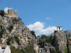 A castle in Guadalest, Spain