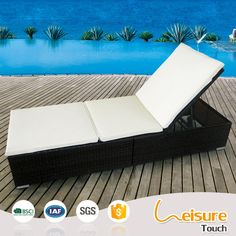 B&R Hotel swimming pool furniture wicker patio rattan beach chair sun lounger