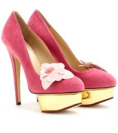Charlotte Olympia - PUMPS DOLLY ORCHID IN SUEDE  - mytheresa.com GmbH
