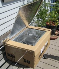 With 2 good boxes and some aluminum foil you could build a solar oven.