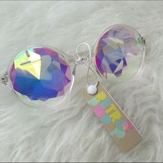 RETRO POP KALEIDOSCOPE DIFFRACTION GLASSES SHADES New Accessories
