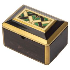 Malachite Inlay Deco Box