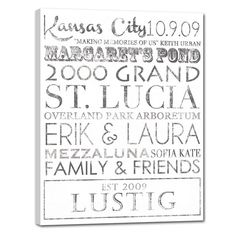 Typography ELITE Series Canvas Word Art by Geezees GREAT idea for family room!