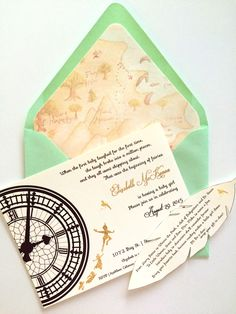 Peter Pan Baby Shower Invitatiobn