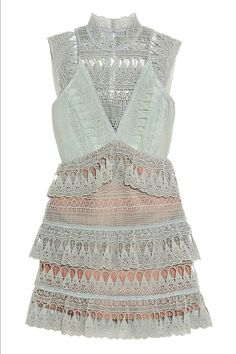 Self-Portrait's Tiered Guipure Lace Mini Dress is gorgeous for brunch, dinner dates, dancing, and on, and on, and on:
