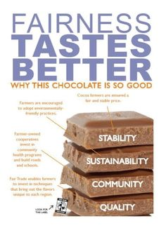 People Tree - This picture describes how fairtrade makes chocolate better than none fairtrade!