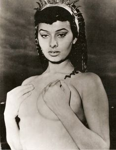 "Sophia Loren in ""2 Nights with Cleopatra"" 1953"