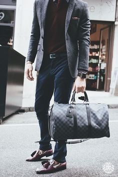 man with large bag
