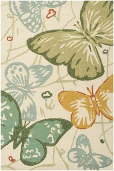 The allure of the Surya Storm 5 Hand Hooked Polypropylene Rug is evident, wherever you choose to display it. This rug is elegant for indoor use,. Synthetic Rugs, Indoor Outdoor Area Rugs, Outdoor Living, Outdoor Decor, Butterfly Design, Butterfly Pattern, Throw Rugs, Cool Rugs, Rugs Online
