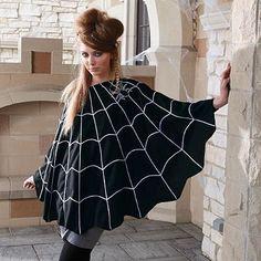 Spider Web Poncho http://www.grandinroad.com/spider-web-poncho/halloween-haven/shop-all-halloween/454580