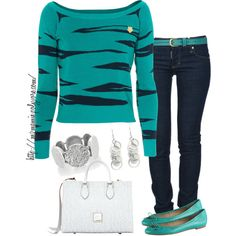 A fashion look from March 2013 featuring Kenzo tops, Dsquared2 jeans and ALDO flats. Browse and shop related looks.