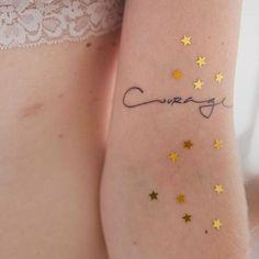 Courage Tattoo | Pinterest: heymercedes