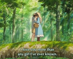 Image about love in Studio Ghibli by O'Catheryn Studio Ghibli Quotes, Studio Ghibli Art, Studio Ghibli Movies, Erinnerungen An Marnie, Laurence Anyways, Personajes Studio Ghibli, When Marnie Was There, Castle In The Sky, My Neighbor Totoro