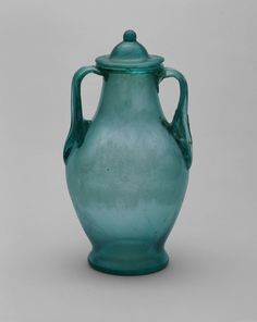 Roman        Urn with Lid, mid-1st/2nd century A.D.              Glass