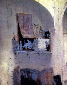 The Balcony John Singer Sargent, circa 1879-1880