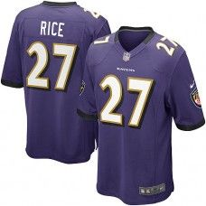 Nike Mens Baltimore Ravens Ray Rice Jersey 27 Game Team Color Purple