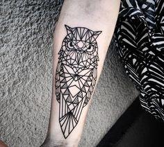 geometrische Motive fürs Tattoo - Eule