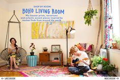 Boho Living Room - Urban Outfitters  Top 10 Can i have it all please? #urbanoutfitters