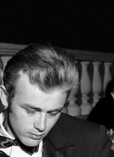 """ James Dean at the Thalian Ball on August 29, 1955. """