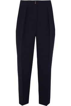 See by Chloé - Tapered Crepe Pants - Navy - FR36